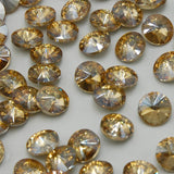 18mm Champagne Glass Round Pointback Rivoli Rhinestones - 20pcs
