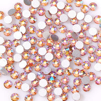 SS30/6mm Champagne AB Glass Round Flat Back Loose Rhinestones - 288pcs