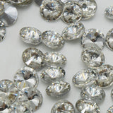 16mm Clear Glass Round Pointback Rivoli Rhinestones - 10pcs