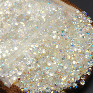 2-6mm Mixed Clear AB Transparent Jelly Resin Round Flat Back Loose Rhinestones