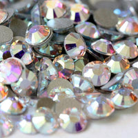 ss3/1mm Crystal AB Glass Round Flat Back Loose Rhinestones