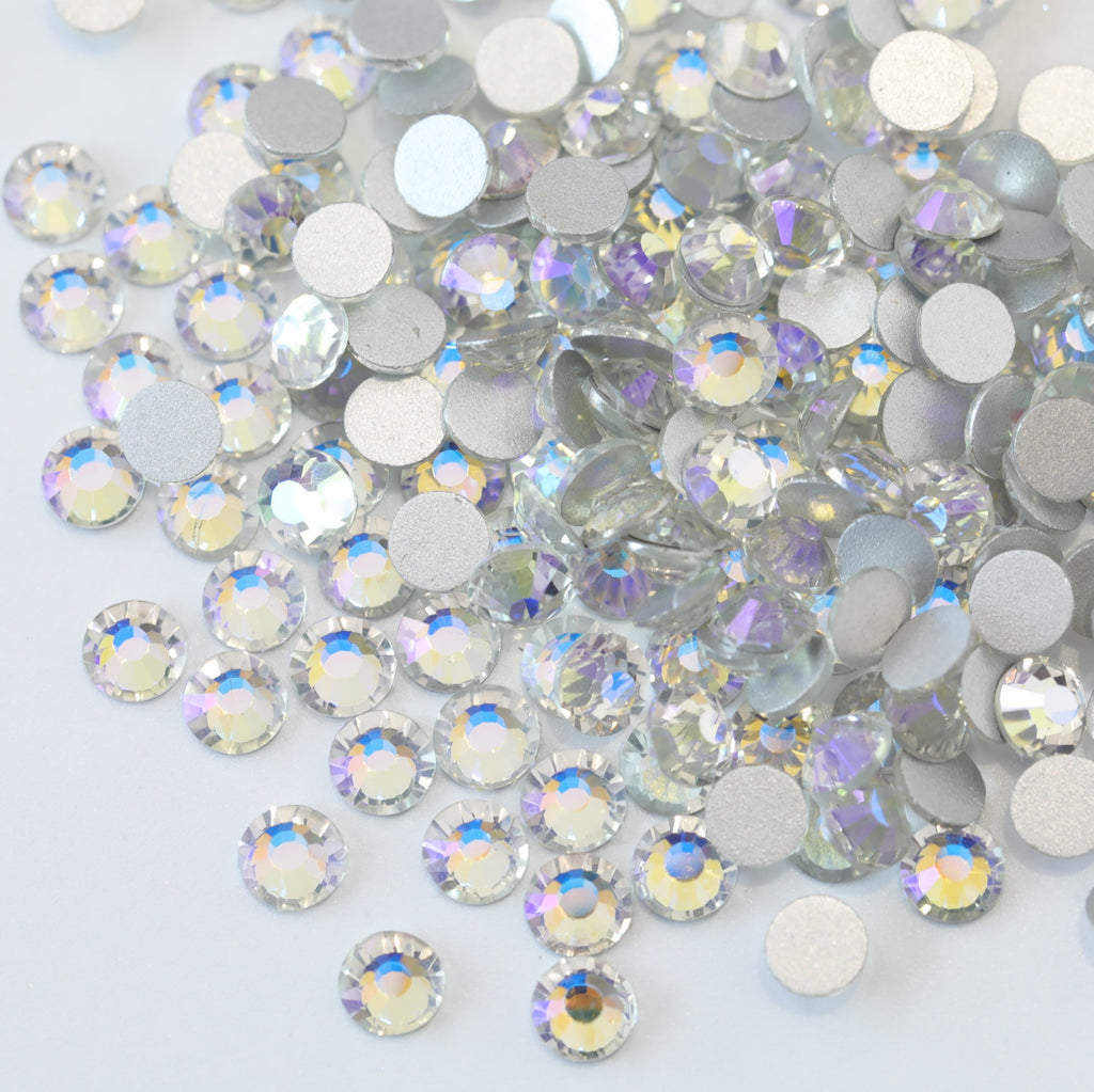 SS6/2mm Crystal Moonlight AB Glass Round Flat Back Loose Rhinestones - 1440pcs