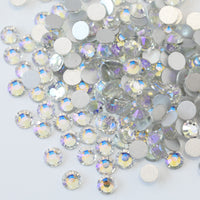 SS30/6mm Crystal Moonlight AB Glass Round Flat Back Loose Rhinestones - 288pcs
