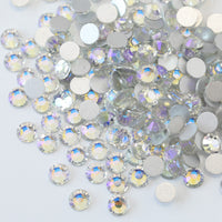 ss3/1mm Crystal Moonlight AB Glass Round Flat Back Loose Rhinestones - 1440pcs
