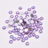 SS6/2mm Violet Glass Round Flat Back Loose Rhinestones - 1440pcs