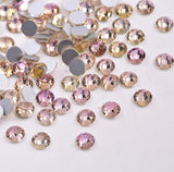SS6/2mm Pink Champagne Glass Round Flat Back Loose Rhinestones - 1440pcs