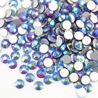ss3/1mm Dark Amethyst AB Glass Round Flat Back Loose Rhinestones - 1440pcs