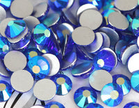 Dark Blue AB Crystal Glass Rhinestones - SS30, 288 Pieces - 6mm Flatback, Round, Loose Bling - TheDecoKraft - 1