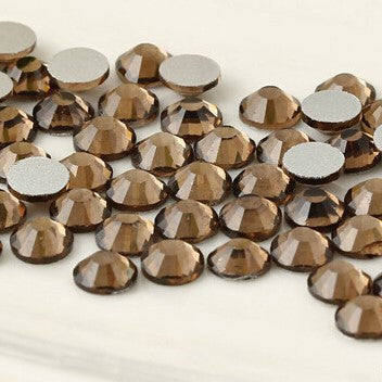 Dark Coffee Crystal Glass Rhinestones - SS30, 288 Pieces - 6mm Flatback, Round, Loose Bling - TheDecoKraft - 1