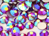 ss3/1mm Dark Siam Red AB Glass Round Flat Back Loose Rhinestones - 1440pcs