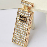Perfume Bottle Gold Rhinestones Bling Cabochon Alloy Metal Decoden DIY Phone Case Charm TDK-B1071
