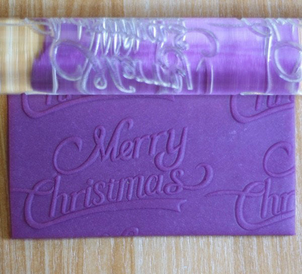 Merry Christmas Acrylic Embossing Rolling Pin Craft Tool (TDKFC1006) - TheDecoKraft