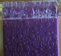 Happy Birthday Balloons Acrylic Embossing Rolling Pin Craft Tool (TDKFC1022) - TheDecoKraft