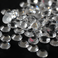 SS12/3mm Transparent Clear Glass Round Flat Back Loose Rhinestones - 1440pcs