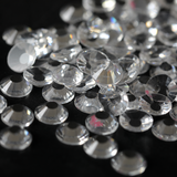 SS30/6mm Transparent Clear Glass Round Flat Back Loose Rhinestones - 288pcs