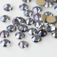 SS12/3mm Ghost Purple Glass Round Flat Back Loose Rhinestones - 1440pcs