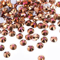 Copy of SS3/1mm Gold AB Glass Round Flat Back Loose Rhinestones - 1440pcs