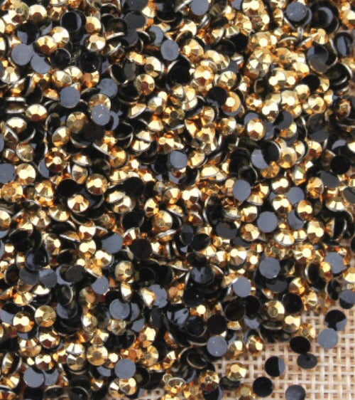 5mm Gold Jelly Resin Round Flat Back Loose Rhinestones