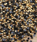 6mm Gold Jelly Resin Round Flat Back Loose Rhinestones