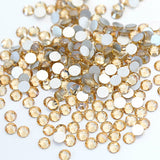 SS30/6mm Gold Champagne Glass Round Flat Back Loose Rhinestones - 288pcs