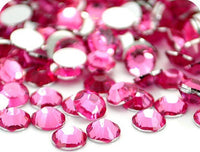 2-6mm Mixed Hot Pink Resin Round Flat Back Loose Rhinestones