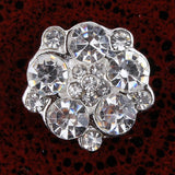 15mm Rhinestone Silver Flatback Buttons (NO SHANK) Embellishments Wedding Bridal Hair Accessory Flower Centers