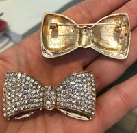 Clearance - Gold Bow Brooch