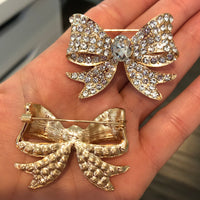 Clearance - Gold Fancy Bow Brooch