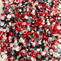 2-10mm Mixed Pearls and Rhinestones Resin Round Flat Back Loose Pearls #2 - 2000pcs
