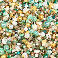 2-10mm Mixed Pearls and Rhinestones Resin Round Flat Back Loose Pearls #10 - 2000pcs