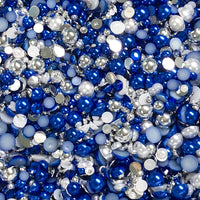 2-10mm Mixed Pearls and Rhinestones Resin Round Flat Back Loose Pearls #6 - 2000pcs