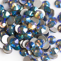 SS30/6mm Black Diamond Gray AB Glass Round Flat Back Loose Rhinestones - 288pcs