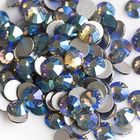 ss3/1mm Black Diamond Gray AB Glass Round Flat Back Loose Rhinestones - 1440pcs
