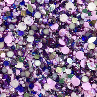 2-10mm Mixed Pearls and Rhinestones Resin Round Flat Back Loose Pearls #18 - 2000pcs