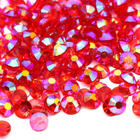 2mm Medium Siam AB Transparent Jelly Round Flat Back Loose Rhinestones