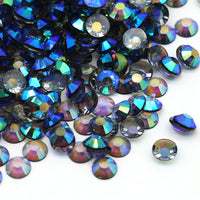 2mm Black Diamond AB Transparent Jelly Round Flat Back Loose Rhinestones