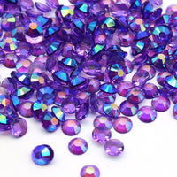 2mm Purple AB Transparent Jelly Round Flat Back Loose Rhinestones