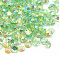 2mm Peridot AB Transparent Jelly Round Flat Back Loose Rhinestones