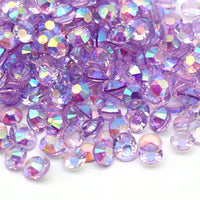 2mm Tanzanite AB Transparent Jelly Round Flat Back Loose Rhinestones