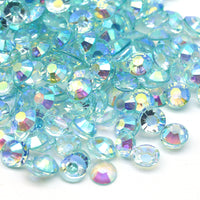 2mm Aqua AB Transparent Jelly Round Flat Back Loose Rhinestones