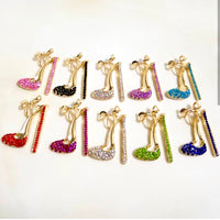 1 Piece Large High Heel Flatback Rhinestone Gold Decoden Alloy Bling Cabochon DIY Phone Case TDK-B1012