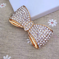 Gold Rhinestones Bling Bow Bling Cabochon Alloy Metal Decoden