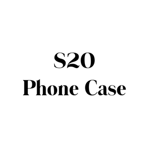 Samsung Galaxy S20 Phone Case, Clear Hard Plastic Phone Case