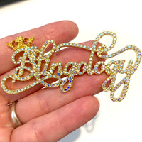 Crystal AB Blingology Flatback Alloy Charm