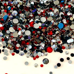 2-6mm Mix Georgia Resin Jelly Round Flat Back Loose Rhinestones