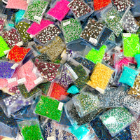 LTO: 50 Pack - 3MM ONLY - Assorted Resin/Jelly Rhinestones