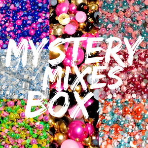 Mystery Mixes Box - 20 Mixes - Pearl & Rhinestone, Resin & Jelly, Pearl Mixes