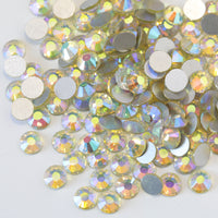 SS12/3mm Jonquil Light Yellow AB Glass Round Flat Back Loose Rhinestones - 1440pcs