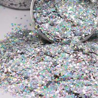 Silver Chunky Holographic Glitter, Polyester Glitter - 1oz/30g