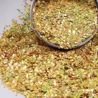 Gold Chunky Holographic Glitter, Polyester Glitter - 1oz/30g